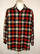 "Woolrich Lumberjack TRI-Plaid Wool Shirt Jacket Hunting field Coat Large 50"" Exc"