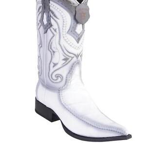 Men's Los Altos Genuine Eel Skin Boots With Deer 3x Toe Handcrafted