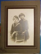 Photos VINTAGE - 2 enfants - Lucas Bédart - Bruxelles - 24 cm x 17,5 cm Pochette