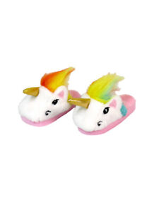 "Rainbow Unicorn Slippers Shoes Fits 18"" American Gir Doll"