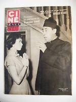 Ciné Revue France  N°12 Mars 1954 Françoise Arnoul Howard Hugues Fernandel