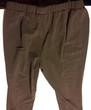 039 Women's Kim Rogers Petite 14P Brown Elastic Waist Pants Gently Used