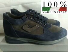 """FRANK PAUL """" BELLISSIMA SNEAKERS UOMO MADE IN ITALY COL. GRIGIO-BLU N°43 NUOVO"""""""