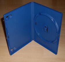 100 DVD Hüllen Cases 1fach blau blue 14mm farbig 1er Neu