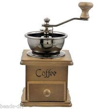Manual Retro Coffee Bean Powder Grinder Mill Hand Adjustable Wood steel core