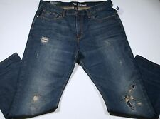 NEW Mens 29 x 30 GAP Jeans Straight Fit Distressed Blue 29/30  Rips $64
