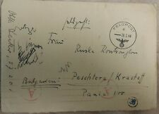 Germany WWII 1944 Feldpost N: 57201 Panzer Corps RARE send to Bulgaria
