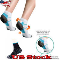 NEW Adults Compression Sport Ankle Socks Plantar Fasciitis Heel Spurs Arch Pain