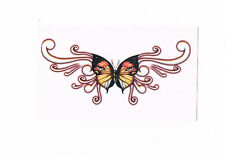 1 x Beautiful Lower back temporary tattoo -  orange & yellow butterfly design