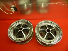 "2 USED Magnum 500 Chromed Steel Wheels 14"" x 6"" x 4 3/4 Bolt Circle 2"" Bore"