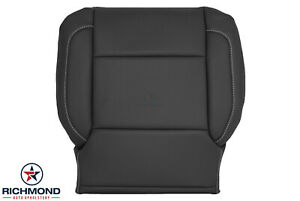2014-2019 GMC Sierra SLT -Driver Side Bottom PERFORATED Leather Seat Cover Black