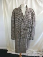 """Mens Coat ILA Mans Shop chest 46-48"""", length 41"""", brown houndstooth wool? 2025"""