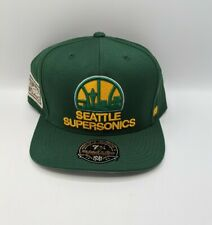 Mitchell & Ness Seattle SuperSonics Hi Crown Fitted Hat 7 3/4 Hardwood Classic