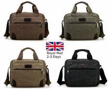 Men's Boy Canvas Shoulder Messenger Rucksack Backpack School Travel Bag Satchel