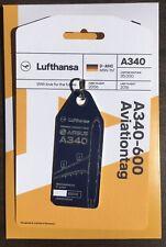 Aviationtag - Lufthansa Airbus A340-600 (D-AIHO : MSN 0767) Aviation Tags - BLUE