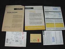 Vintage Original Rare Nordmende Radio Receiver Owners Operator Pack Germany
