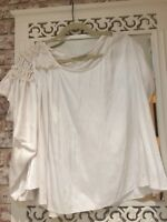 Allsaints White/Cream Top Blouse Oversized Size 12