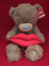 "ME TO YOU BEAR TATTY TEDDY 12"" HOT LIPS RED LARGE BIG KISS LOVE BEAR PLUSH GIFT"