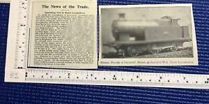 Flooks & Smithies 3.25 gauge G.W.R. Tank steam Locomotive vintage cutting 1904