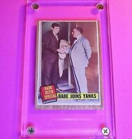 1962 Topps #136 Babe Ruth Joins Yanks BR Special, rare Green Tint NrMt NM Sharp!