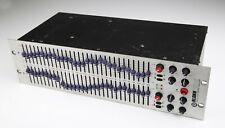 More details for klark teknik dn370 dual 30 band 1/3 octave analogue graphic equalizer