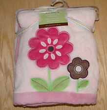 "Carter's snuggle me pink flower blanket baby Blanket NWT - 30"" x 40"""