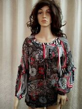 Chiffon Collarless Regular Size Tops & Blouses for Women