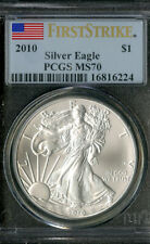 US Coin 2010 Silver Eagle Dollar PCGS MS70 NO RESERVE!