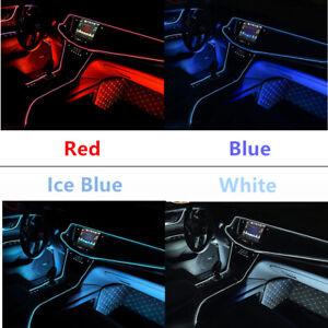 2M 12V Car Interior LED Decor Wire Strip Atmosphere Neon Cold Light Accessories