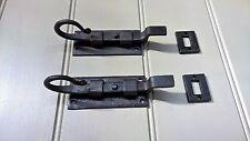 VINTAGE ANTICO OLD BLACK Porta Bullone a Gomito Coda Di ratto 4 pollici-COPPIA