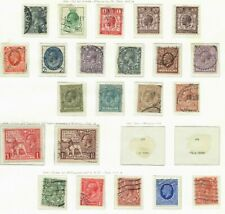s20938) UK GREAT BRITAIN Lot of classics 1924/36 Used Fine/very fine (2 scans)