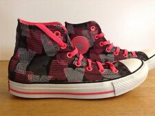 Converse Mid Top Trainers, Black, Pink & White, UK 6, US 8, EUR 39