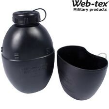 WEB-TEX BRITISH ARMY 58 PATTERN REPLICA WATER BOTTLE & MUG 1 LITRE CANTEEN CADET