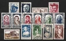 France année complète 1950 Yvert n° 863 à 877 oblitérés 1er choix