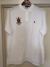 NWT XXL POLO RALPH LAUREN CUSTOM FIT RUGBY WHITE CREST MESH POLO SHIRT