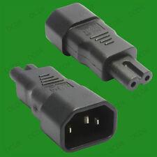 3 Pin IEC Male Kettle Socket C14 to Figure 8 Female C7 Plug Adaptor Converter