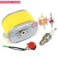 Luftfilter mit Zündkerzen für Honda Rasenmäher GX140 GX160 GX200 # 17210-ZE1-505