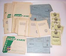 Konvolut Blanko Documents Dtsb Sporttag 1955 Leipzig 1963 Début Carte