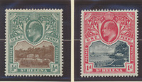 St. Helena Stamps Scott #50 To 51, Mint Hinged, Hinge Remnant