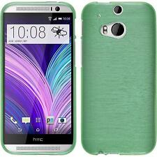 Coque en Silicone HTC One M8 - brushed vert + films de protection