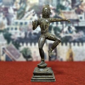 "20.7"" Thai Cambodia Khmer God Buddha Statue Antique Mounted Angkor Wat Dancing"