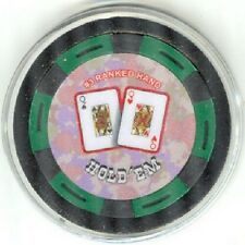 Pair QUEENS #3 ranked poker chip Card Guard Protector