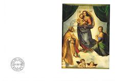 Vaticano Vatican Raffael bloque 37 500 años Sixtina Madonna Sistina 2012 FDC