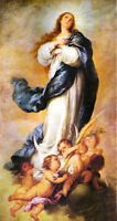 Oil painting Bartolome Esteban Murillo - Immaculate of Aranjuez the Virgin Mary