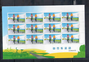 China 2011-19 Cycling Bicycle Sport Green Life 自行車運動 Full sheet