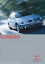 Seat Toledo folleto 6 02 brochure 2002 auto turismos auto folleto folleto España