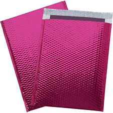 250 #0 Glamour Metallic Pink Poly Bubble Mailers Envelopes Bags 6x10 DVD Wide CD