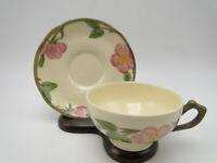 Vintage Franciscan England Dessert Rose Pottery Cup & Saucer Set(s)