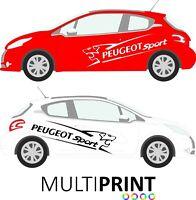 Peugeot 207 208 GTI Side Racing Stripes Car Stickers Graphics Vinyl Vehicle PUG1