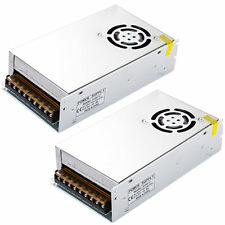 2x Switch Power Supply Driver Ac 110220v To Dc12v 25a 300w For Led Strip Light